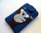 Felt iPhone/iPod Case - Koala (Blue)