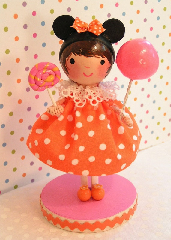 Ready to Ship- Minnie Mouse Birthday Cake Topper