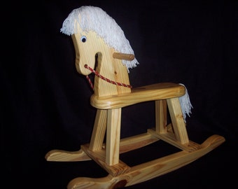 Child's Wood Rocking Horse