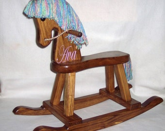 Wood Rocking Horse - hand painted