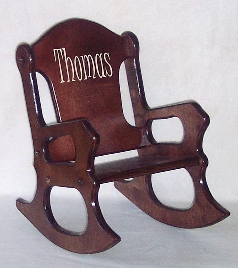 Wooden Kid Rocking Chair Personalized Cherry Weaverwood