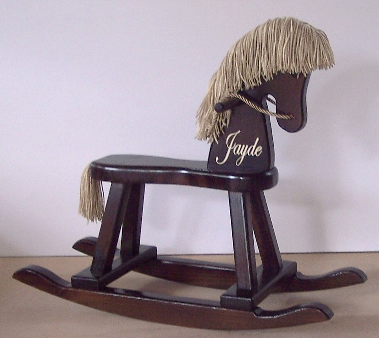 Rocking horse wooden rocker childrens