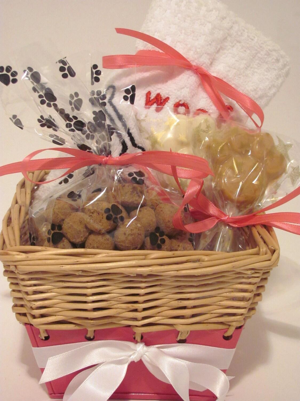 Etsy Dog Gift Baskets : New princess dog treat gift wrapped basket by muddypuppys