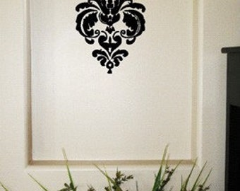 Damask Vinyl Sticker Decal Home Decor.  Choose Your Color.