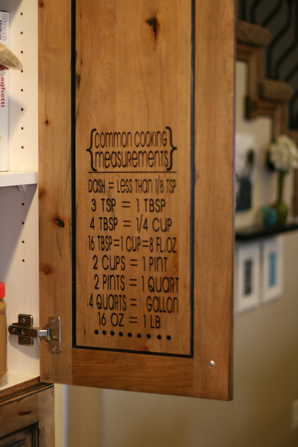 Cooking measurementsconversion table measurement for Kitchen cabinets lowes with how to make sticker labels