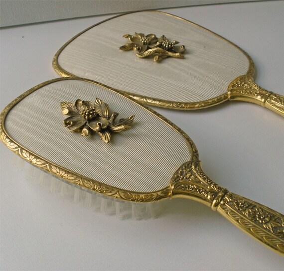 Vintage Matson Mirror Hair Brush Vanity Set