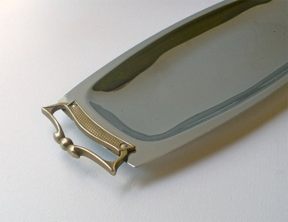 Vintage 50s Silver Classic Serving Tray