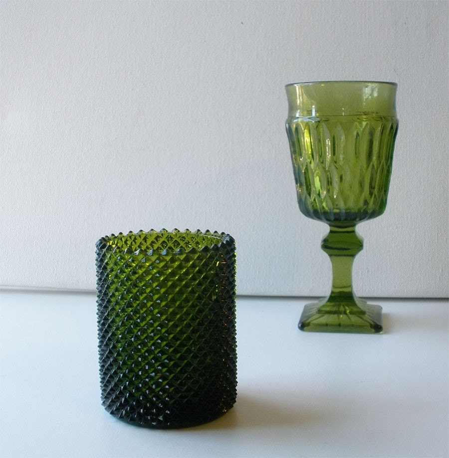 green glass candle holders vintage green glass votive candle holder faroy 3984