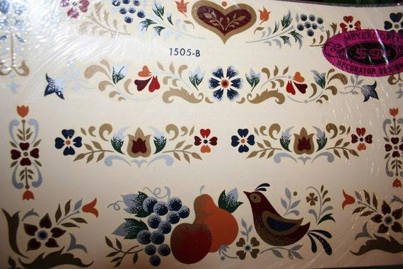 Vintage Meyercord Flower Decal