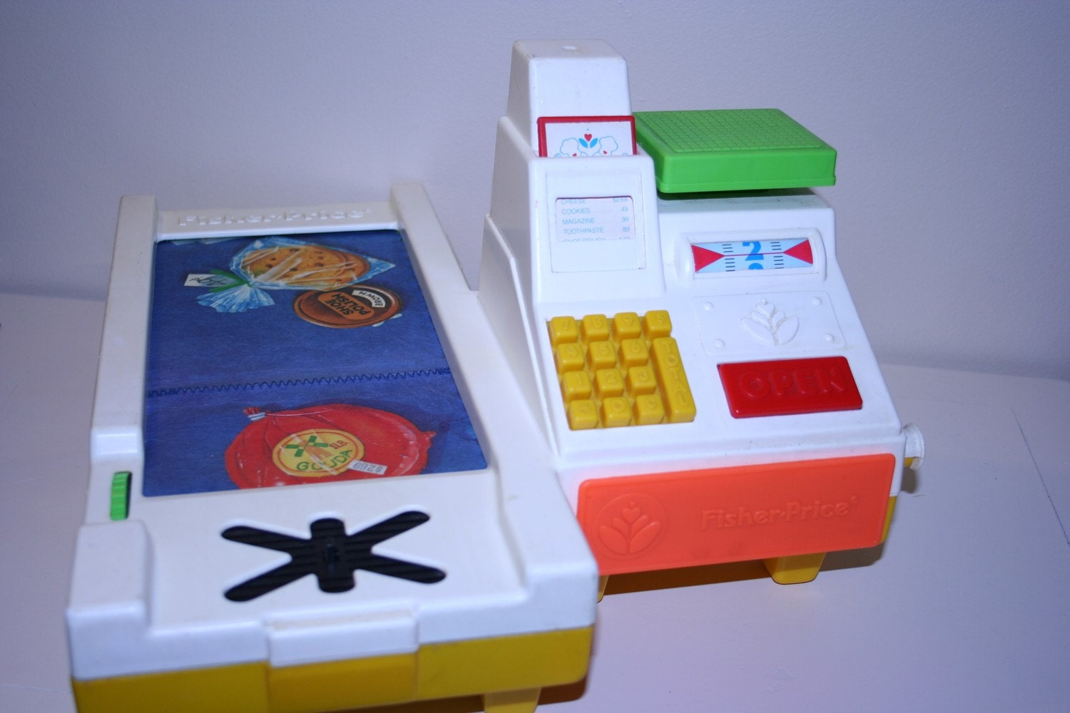Toy Cash Register With Scanner : Vintage fisher price cash register check out