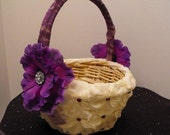 Hydrangea Petal Flower Girl Basket