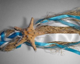 Customized Wavy Raffia Beach and Starfish Wedding Decorations