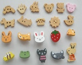 Wholesale 160 pcs Lovely Wooden Buttons wb-cute
