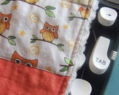 Owl Quilted Baby Bib