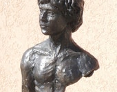 Man- head chest and arm - a bronze sculpture - special listing reserved for Jeff