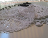 vintage french hand crocheted doily collection