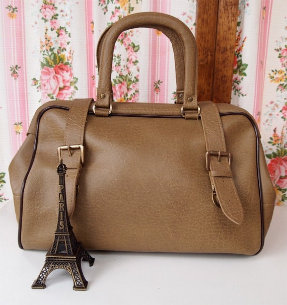Lexi, French Vintage, Minky Taupe Case, Hold-all Handbag from Paris