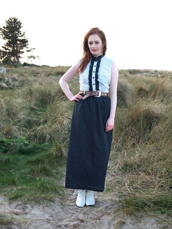 Laurie, French Vintage, 1970s Polka Dotl Maxi Dress from Paris