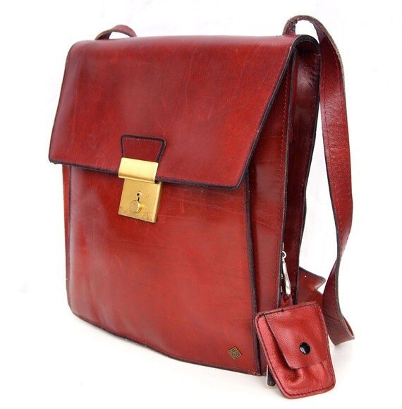 Mulberry Muse, French Vintage, Ox Blood Leather His and Hers Satchel, Messenger, Handbag from Paris