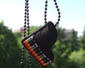 Felt Necklace - Hair Clip - Piano and Rainbow