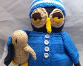 Knit Owl Plush Toy-Sleepy