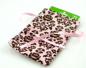 ON SALE -- Pink Damask Gift Card Holder or Small Gift Bag