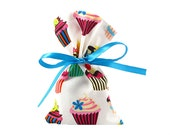 Birthday Bag Gift Card Holder in Cupcakes Fabric