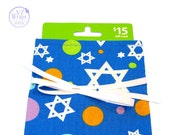 ON SALE -- Fabric Gift Card Holder or Jewelry Bag for Jewish Holiday