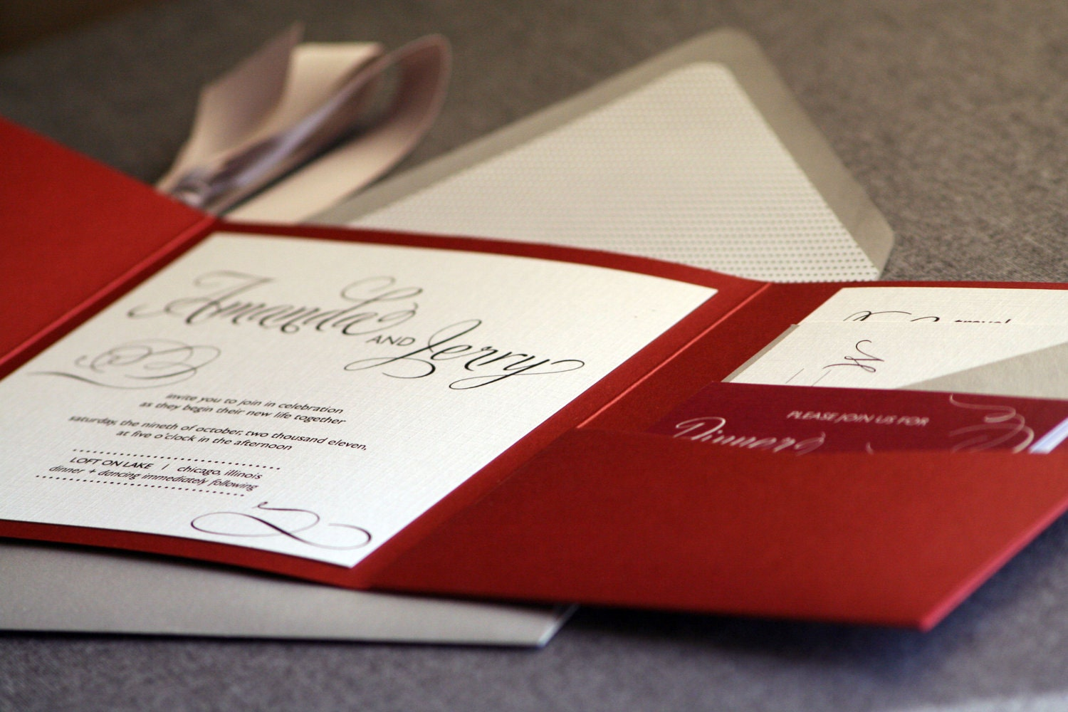 Red Black And White Wedding Invitations: Winter Wedding Invitations Red Black Silver By