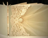 Wedding Guest Book, Wedding Memory Book, Photo Guestbook, Alencon Lace