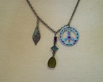 L530 Peace Charm Necklace