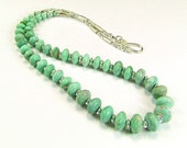Rare & Exclusive - Lucin Variscite Sterling Silver Necklace - N531