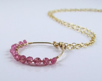 Natural Pink Sapphire Necklace - N405