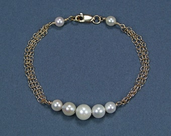 Freshwater Pearl 14k Gold Filled Bracelet - BM43