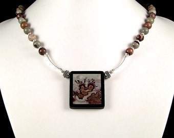 Chohua Jasper Intarsia Necklace - N514