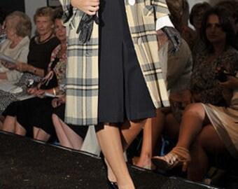 Saint LAURENT Rive Gauche navy skirt French Couture Runway Designer Vintage Apparel artedellamoda