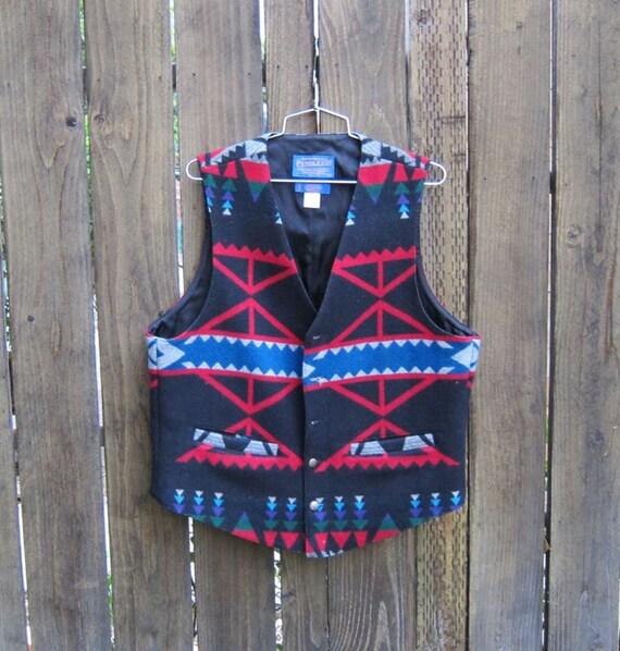 Vintage Authentic Pendelton Navajo Wool Mens Vest Size 42 (M/L) Ladies (xl)