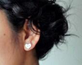 Heart Buttons - Stud Earrings