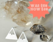 Spring SALE 40% OFF Snowy Mountain Stud Earrings -  ready to ship