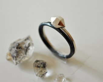 Desert Rock Stacking Rings - Stacked Rings Sterling Silver
