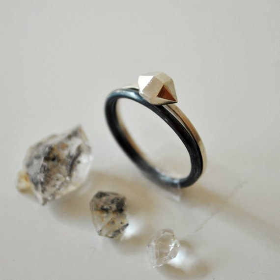 Desert Rock Stacking Rings - Stacked Rings Sterling Silver