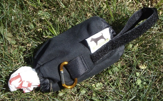 Dog Poop Bag Dispenser with Clip - Eco Friendly, Reuse Your Shopping Bags - Black