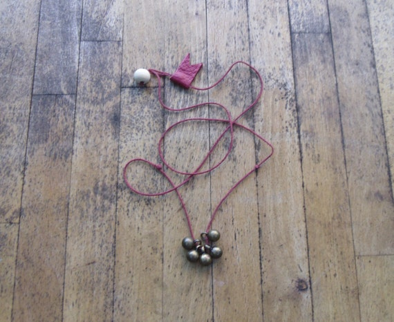 Thread and Ball Necklace