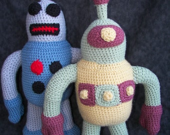 Tobor and Cyclopsbot Robots Crochet Amigurumi Robot Pattern