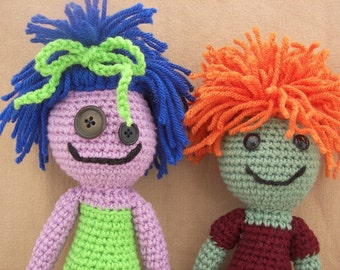 Lizzie and Louie Mop Heads Crochet Amigurumi Doll Patterns