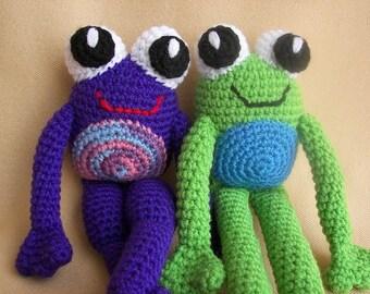Hip Hop Hurray Frog Crochet Amigurumi Pattern