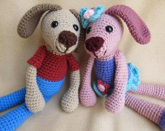 Doggie Duo Crochet Amigurumi Dog Pattern