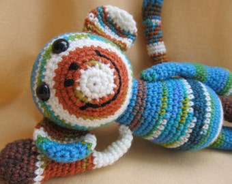 Mandy the One Skein Monkey Crochet Amigurumi Pattern