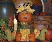 Patti's Ratties Primitive Pumpkin Halloween Fall Ann Doll Pattern 526