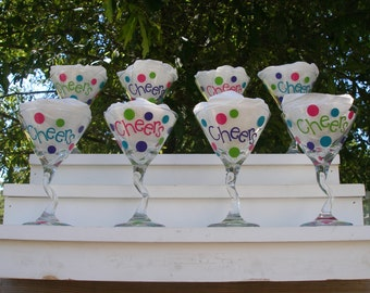 Martini Glasses Set of Eight